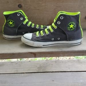 Gray and Lime Green Chuck Taylor Converse